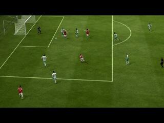 Гол через себя левой ногой в FIFA 2013